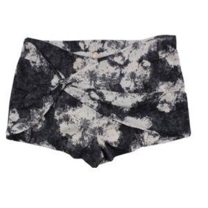 NEW Free People Tie Dye Linen Blend Shorts